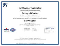 ISO9001:2015 Certification