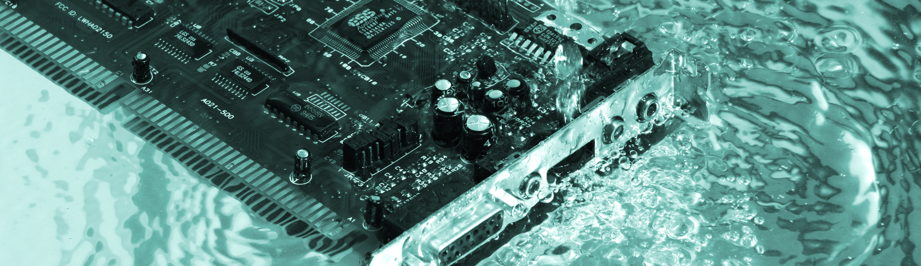 Circuit board in water